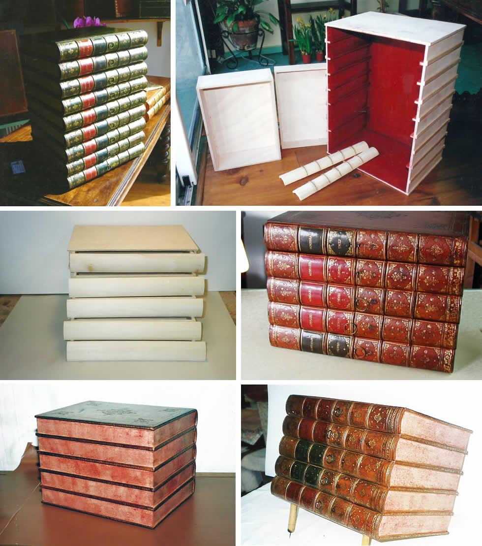 Boites en faux dos de livres