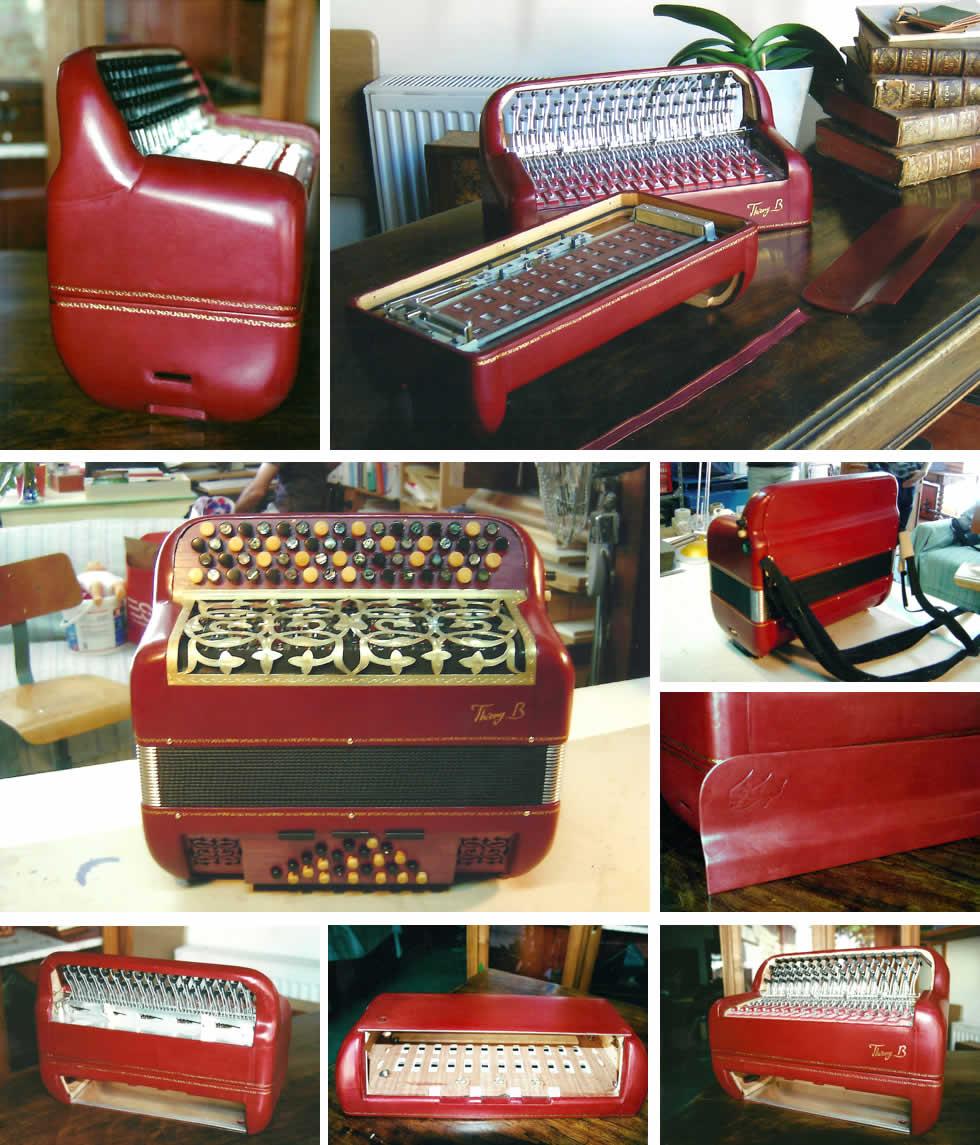 Les étapes de l'habillage d'un accordéon en cuir