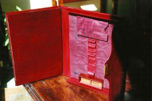 Restauration d'un portefeuille plumier