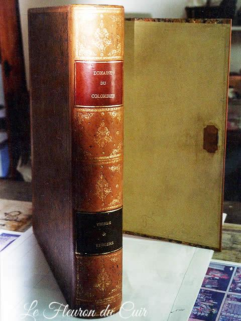 Réédition d'une boite à journaux à faux dos de livre