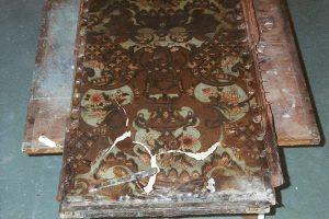 Restauration d'un paravent en cuir de Cordou