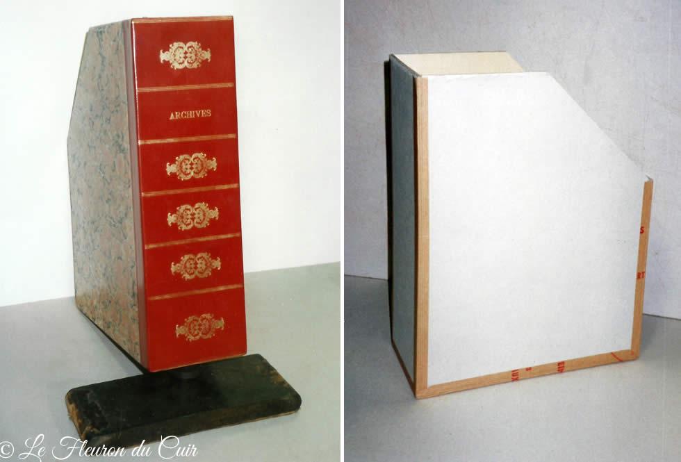 Boite d'archives à pans coupés sur mesure