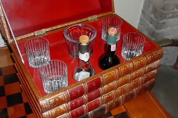 Boite Bar plein cuir - Cave à Whisky