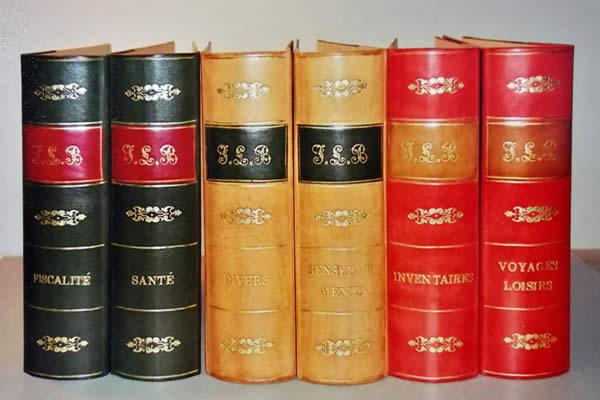 Classeur façon livre ancien