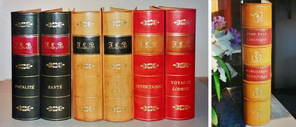 Classeurs façon livres anciens