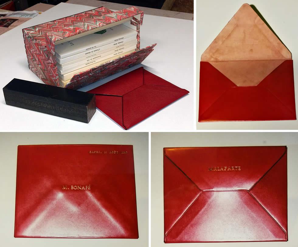 Enveloppe plein cuir basane