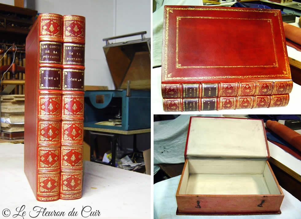 Réédition d'une boite ancienne en faux livres anciens