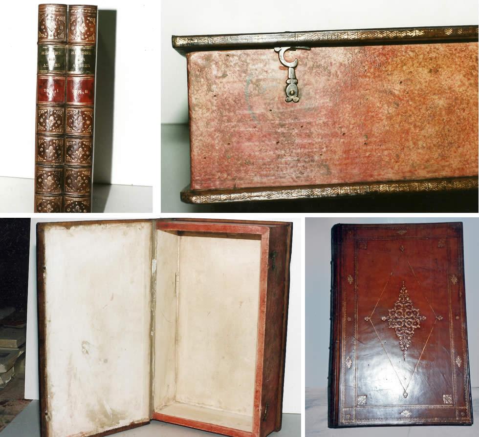 Réédition de boite ancienne en faux dos de livres