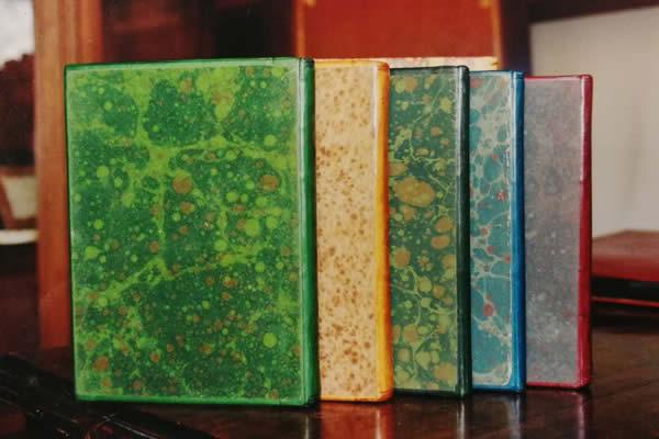Livres reliés plein cuir basane
