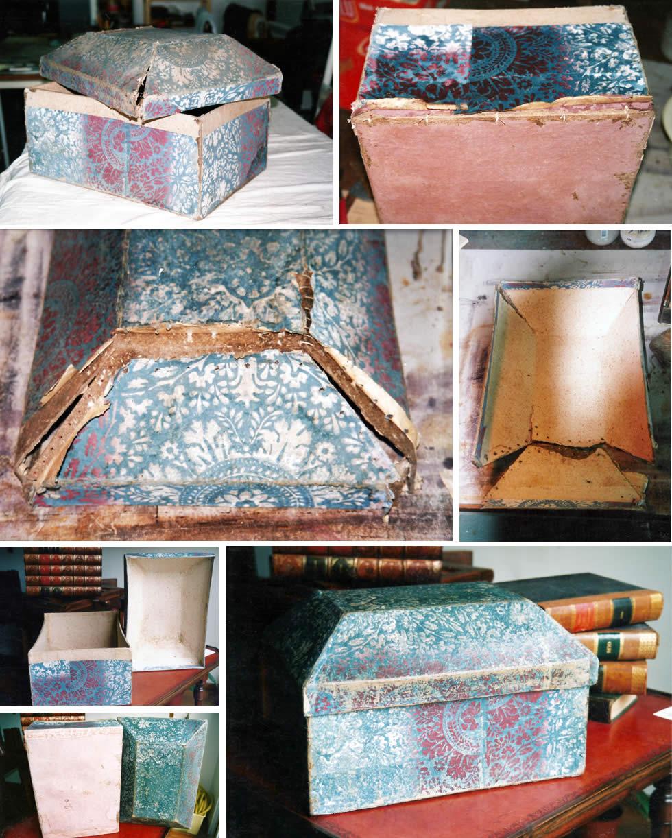 Restauration d'une boite ancienne du 18ème siècle