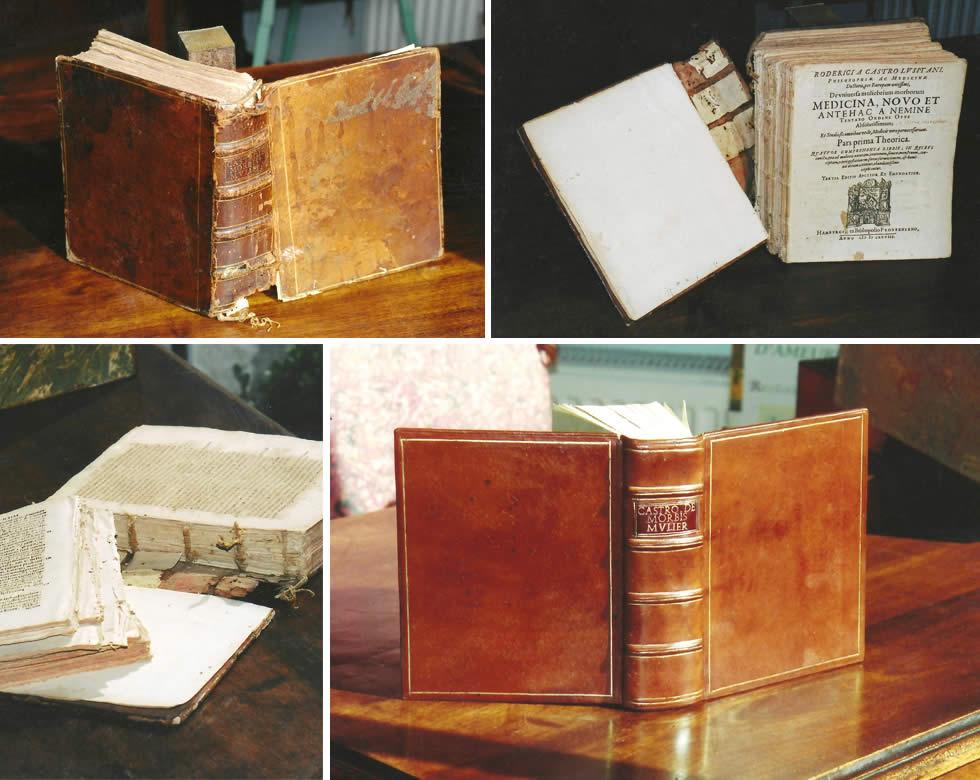 Restauration d'un livre de médecine du 17ème siècle