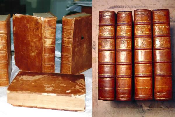 Restauration de livres anciens plein cuir