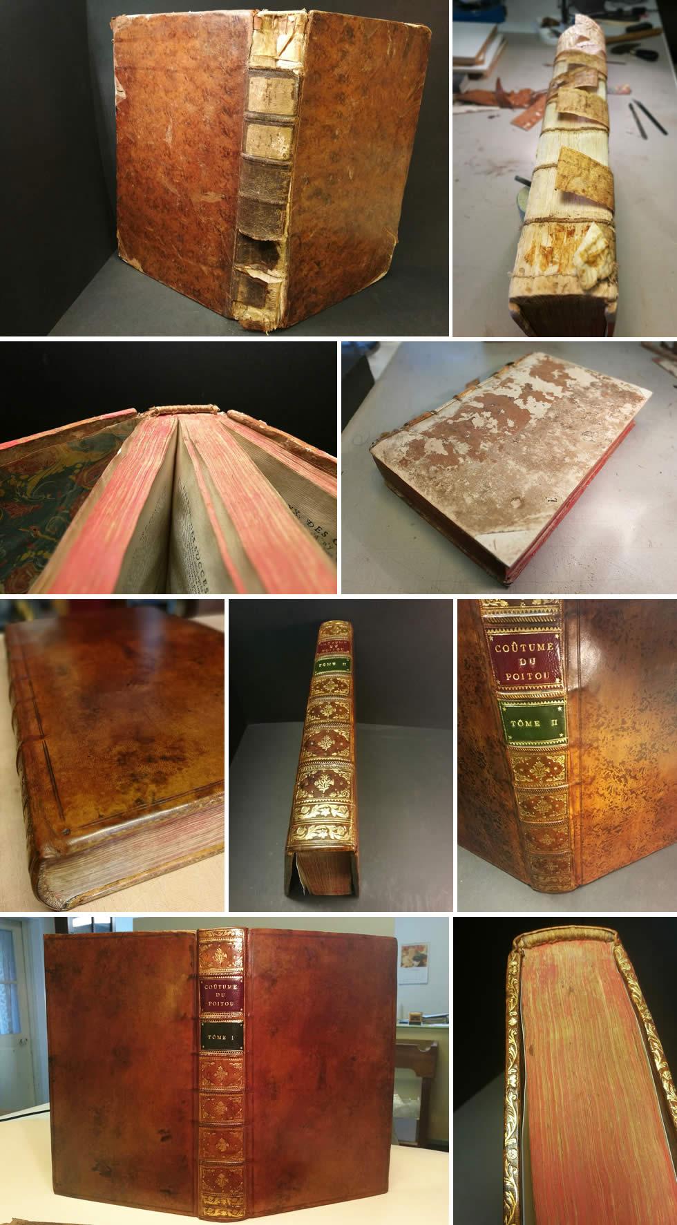 Restauration d'un livre ancien sur les us et coutumes du Poitou