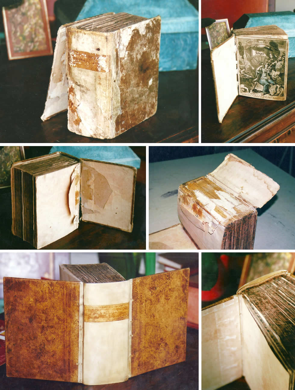 Les étapes de la restauration d'un livre ancien avec demi dos en parchemin