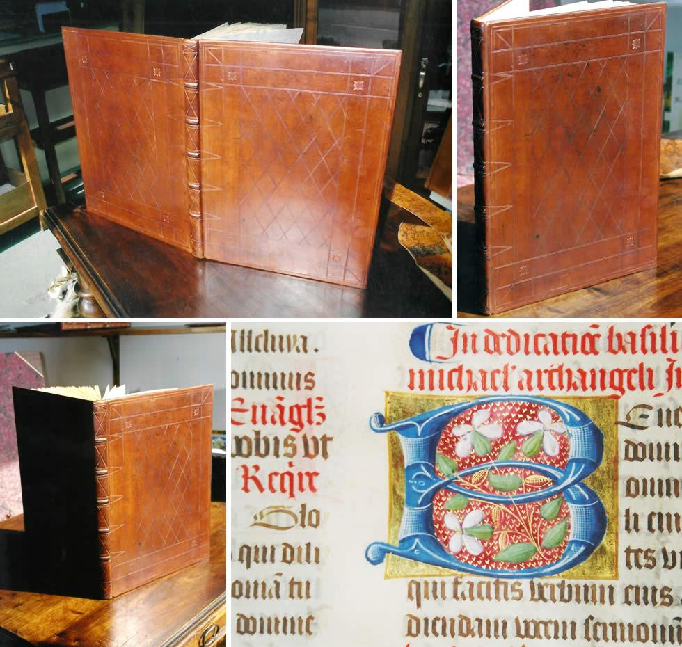 Restauration d'un livre d'heures sur parchemin
