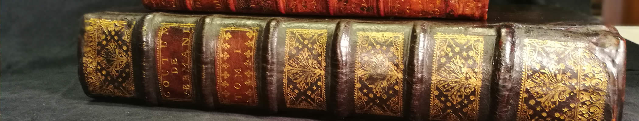 Atelier de restauration de livres anciens